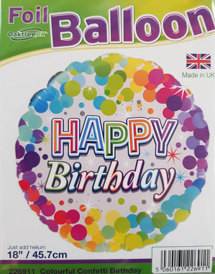 Picture of Birthday Balloons- confetti