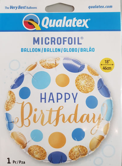 Picture of Birthday Balloons - Blue and gold