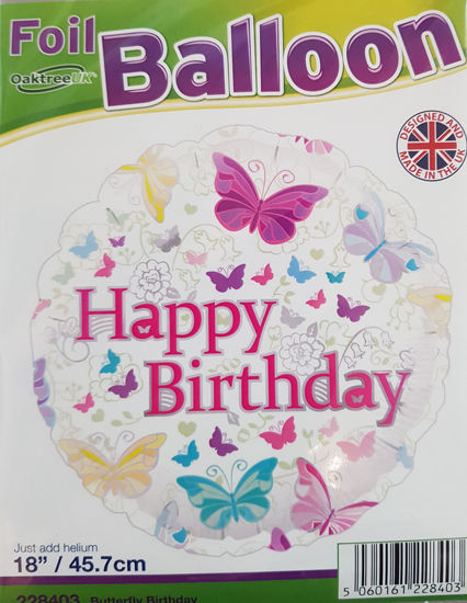 Picture of Birthday Balloons- Butterflies