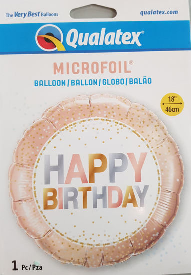 Picture of Birthday Balloons Rose gold