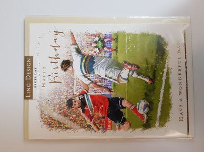 Picture of Card Birthday - Football kick card