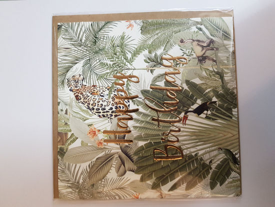 Picture of Card Birthday - Jungle pattern card