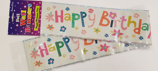 Picture of Birthday banner with flowers.