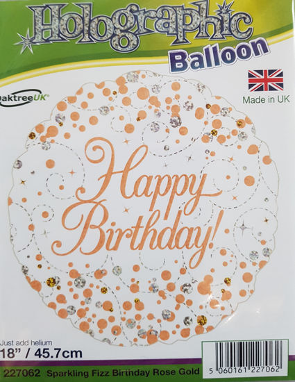 Picture of Birthday Balloons Rose gold dots