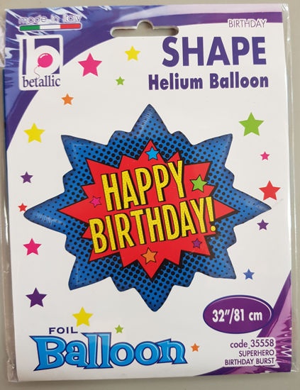 Picture of Supershape Balloon Happy birthday