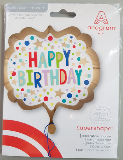 Picture of Supershape Balloon happy birthday bright