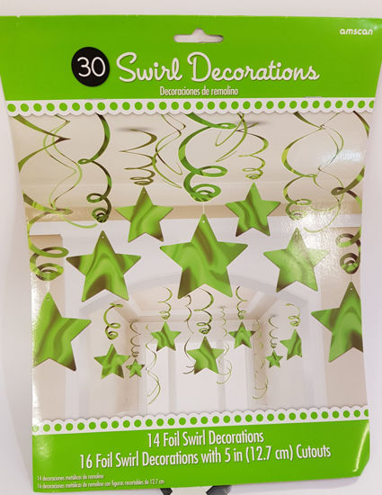 Picture of Star swirls Green decorations