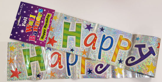 Picture of Birthday banner fun colours