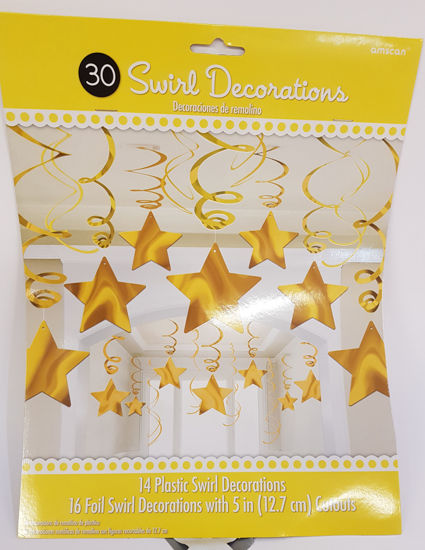 Picture of Gold star swirls