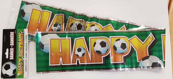 Picture of Birthday banner football