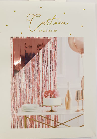 Picture of Curtain In Rose gold decorations