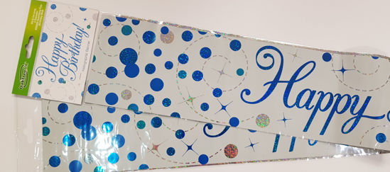 Picture of Banner Blue and silver