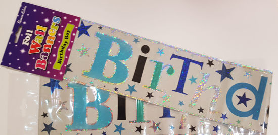Picture of Birthday banner in blues