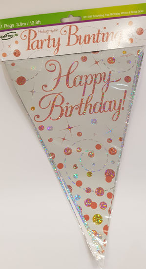 Picture of Bunting in Rose gold and silver