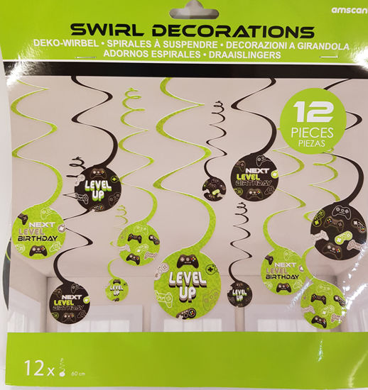 Picture of Swirls Gamers decorations