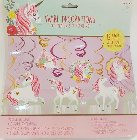 Picture of Swirls unicorn decorations