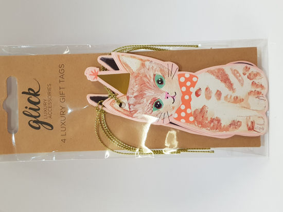 Picture of Gift tags Cat shaped assorted