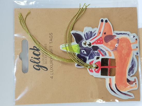 Picture of Gift tags Dog shaped assorted