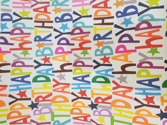 Picture of Gift Wrap Happy bithday